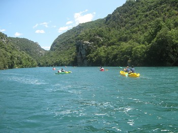 ... Grand Canyon du Verdon. Mit Kanu, Kajak oder Tretboot...