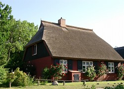 Ferienhaus Romantisches Darsser Reetdach Fischerhaus idyllisch...