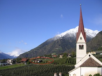 Oberangerhof*** Pension in Algund bei Meran mit Pool in...