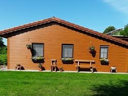 Ferienwohnung Das idyllisches Holzhaus ist eine Ferienwohnung...