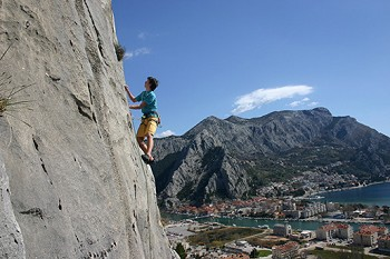 Freeclimbing (Fels Klettern) hat in Omis Tradition. Omis...
